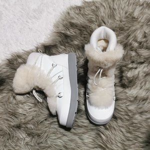 Ugg Highland Patent Leather Shearling Boots